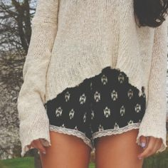 patterned shorts