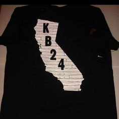 Perfect shirt of both my loves Kobe n Cali !!