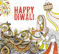 illustration of burning diya on happy Diwali Holiday doodle. Doodle Background, Doodles Zentangles, Happy Diwali, Free Vector Art, Image Now, Festivals, Folk Art, Competition, Royalty