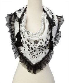 Look what I found on #zulily! Black Diamond Shape Scarf by Betsey Johnson #zulilyfinds