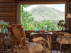 Only $818 per night...;o(  But just look at the inside for great rustic furnishings and design ideas...  Three Bedroom Plus Bunk Room Jackson Home - VRBO