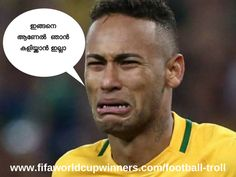 Neymar trolls-football troll Meme Messi, Messi Funny, Football Troll, Football Soccer, Soccer Ball, World Cup Winners, Fifa World Cup, Neymar, Cristiano Ronaldo