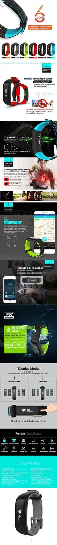 Kassica Health Fitness Tracker with Heart Rate Monitor and Blood Pressure Sports Smart Wristband Pedometer Smart Bracelet Bluetooth Smart Watch for IOS IPhone Android Samsung Phones (Gray) Women's Running Gadgets... http://www.ebay.com/sch/i.html?_from=R40&_trksid=p4712.m570.l1313.TR6.TRC1.A0.H0.Xsmart+watch+for+women.TRS1&_nkw=smart+watch+for+women&_sacat=0&rmvSB=true