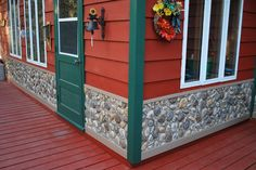 exterior rock vaneer | River Rock Faux Stone Siding