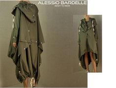 Alessio Bardelle  Ready to Wear  Long green Parka s*s*8