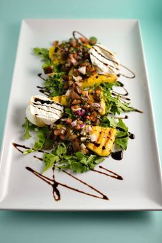 Grill Like an Italian with Colavita: Grilled Polenta Salad with Burrata