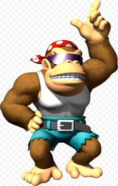 (Updated) Funky Kong announced for Donkey Kong Country: Tropical Freeze - Pure Nintendo Mario Kart Characters, Party Characters, Super Smash Bros, Super Mario Bros, Super Heros, Marvel Cartoon Movies, Diddy Kong, Donkey Kong Country, Mario Party
