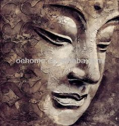 Image result for abstract buddha face paintings