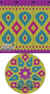 This Pin was discovered by Све Tapestry Crochet Patterns, Crochet Mandala Pattern, Crochet Stitches Patterns, Crochet Chart, Diy Crochet, Bead Crochet, Cross Stitch Designs, Cross Stitch Patterns, Mochila Crochet