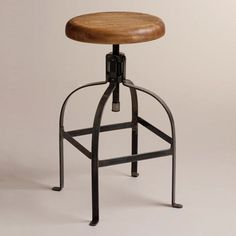 A stylish vintage industrial swivel stool http://vintageflat.com/twist-swivel-stool/ #vintage #furniture #vintagefurniture #homedecor #interiordesign #home #decor #design