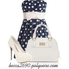 """""""Polka Dot Dress"""" by becca2690 on Polyvore"""