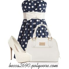 """Polka Dot Dress"" by becca2690 on Polyvore"