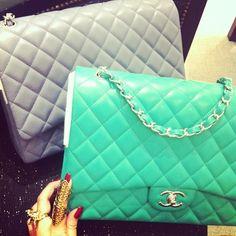 Mint green Chanel bag