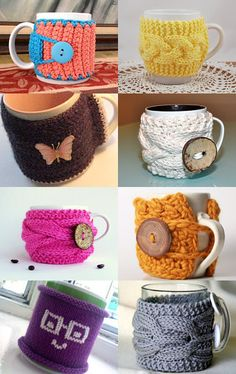 REALLY cute knitting idea (and a good way to use up all the ugly mugs - haha)