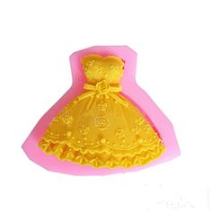 Yunko Princess Strapless Wedding Dress Cake Decorating Tools Silicone Fondnt Mold Chocolate Candy Sugar Mould -- You can find out more details at the link of the image.(This is an Amazon affiliate link)
