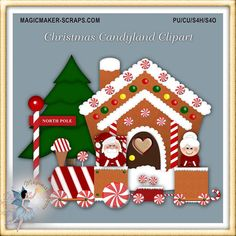 Christmas candyland clipart by magicmakerscraps on etsy