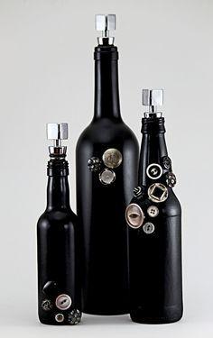 Black Decorative Bottle Set