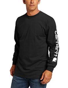 29571a2b170 Amazon.com  Carhartt Men s Signature Sleeve Logo Long Sleeve T-Shirt K231   Clothing