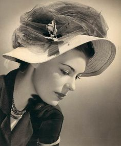 Easter bonnet, 1946...I want to dress for Easter this year, including a hat!