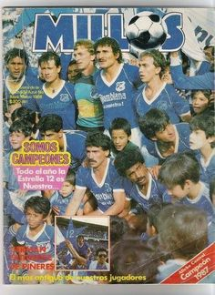 #MIllonarios Campeón 1987. Nano, Gutierrez de Piñeres, Barrabás, Vanemerack, Iguarán, entre otros. Portada de revista.