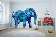 #elephant Geometric Animals Collection #geometry #minimal #interior #decor