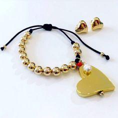 Set By Vila Veloni Hearts Cute Bracelet, Earring