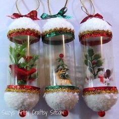 vintage christmas ornamentssuzys artsy craftsy sitcom ornaments holiday at - PIPicStats Handmade Christmas Crafts, Vintage Christmas Ornaments, Homemade Christmas, Christmas Art, Christmas Projects, Simple Christmas, Holiday Crafts, Christmas Holidays, Antique Christmas