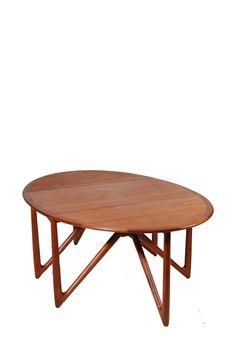 Mid Century Danish Modern Dining Table 304 in Teak by by MotleyLA
