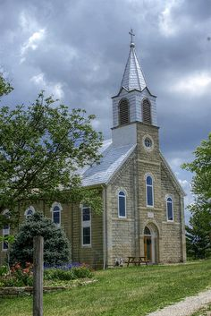 The Old Stone Church in the Missouri Ozarks