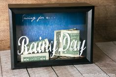 DIY shadow box bank tutorial