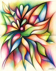 Heal / colored pencils on paper (moleskine) / sandra rede 2016 wwww. Pencil Art Drawings, Art Drawings Sketches, Abstract Drawings, Abstract Art, Stylo Art, Color Pencil Art, Colour Pencil Shading, Crayon Art, Coloured Pencils