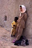 Berber Kids 02crop -    Kids in an oasis in the Moroccan Sahara.        ...