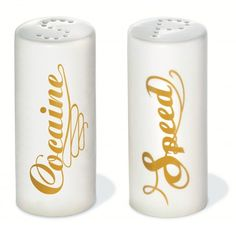 Speed & Cocaine Salt and Pepper Shakers -  Only £12!!