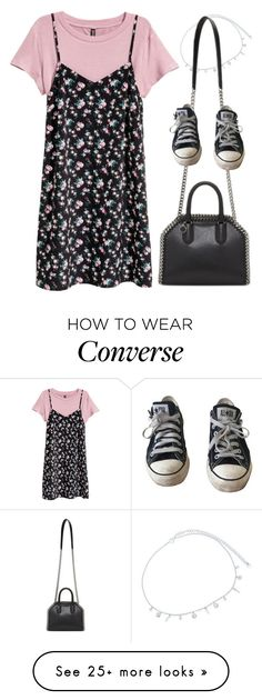 """I Only Need You"" by glamgore on Polyvore featuring H&M, Ross-Simons, STELLA McCARTNEY and Converse"