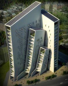 Strange apartment building