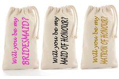 Will you be my bridesmaid Tote? Bag Bridesmaid proposal gift bag for robes Maid of Honor Bridal Party Invitation personalised totes. Personalized Aprons, Personalised Canvas, Personalized Bridesmaid Gifts, Bridal Party Invitations, Bridesmaid Tote Bags, Bridesmaid Proposal Gifts, Aprons For Men, Will You Be My Bridesmaid, Custom Bags