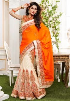 Sarees Online: Shop the latest Indian Sarees at the best price online shopping. From classic to contemporary, daily wear to party wear saree, Cbazaar has saree for every occasion. Latest Indian Saree, Indian Sarees Online, Pakistani Outfits, Indian Outfits, Indian Clothes, Lehenga Style Saree, Lehenga Choli, Net Lehenga, Anarkali