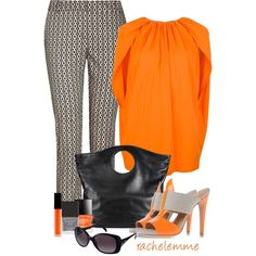 """""""Orange & Beige Shoes - No. 2"""" by rachelemme on Polyvore"""