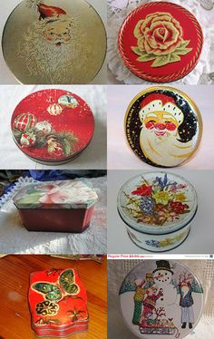A Christmas tin collection.
