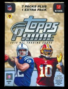 2012 Topps Prime Football Blaster Box . $17.95. 7 Packs Plus 1 Extra Pack, 7 Cards per Pack!