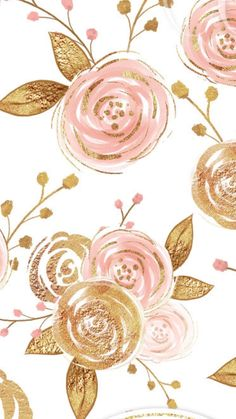 Wallpaper Iphone Pink Gold Art Prints Ideas For 2019 Trendy Wallpaper, Flower Wallpaper, Cute Wallpapers, Floral Wallpapers, Cute Backgrounds, Wallpaper Backgrounds, Iphone Wallpaper, Wall Wallpaper, Frame Floral