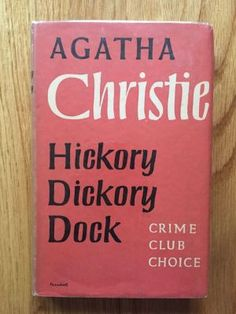 Hickory Dickory Dock - Christie, Agatha Collins Crime Club, First edition first impression from 1955 in VG+ condition, there are tape marks to front and rear endpapers, no other internal markings. There is toning to the jacket spine, not price clipped, jacket now in removable protective sleeve, please see pics, any questions please get in touch.