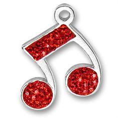 Red Music Note Charm