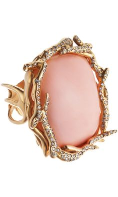 Lucifer Vir Honestus Peau D'Ange Coral & Diamond Anemone Ring