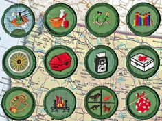 Girl Scout badges, I have a sash full of them