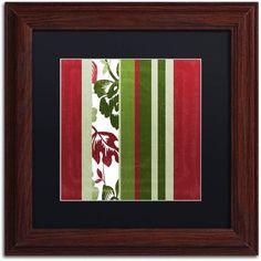 Trademark Fine Art Woodlands Christmas IV Canvas Art by Color Bakery Black Matte, Wood Frame, Assorted