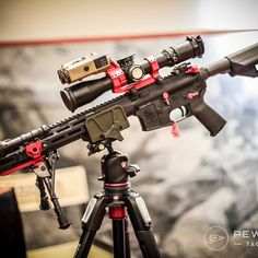 For those high elevation engagements  .  .  .  #shotshow #shotshow2017 #ar15 #ar #gun #guns #firearm #firearms #gunsofinstagram @gunporn #weapons #rifles #precisionrifle #weaponsdaily #gunsdaily #gunfanatics #gunspictures #firearmphotography#pewpew #pewpewtactical