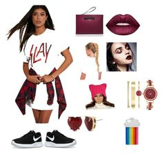"""""""We slay this rally!"""" by unicornwhisper on Polyvore featuring Kate Spade, Lime Crime, NIKE, Anne Klein, Betsey Johnson and STELLA McCARTNEY"""