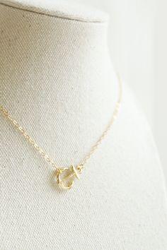 Tiny gold anchor