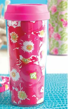 Lilly Pulitzer Thermal Mug:More caffeine please Love To Shop, My Love, Thermal Mug, Man Child, Starbucks Drinks, All I Ever Wanted, Everything Pink, Coffee Break, Travel Mug